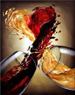 HEART LOVE RED WINE ART GICLEE OF LEANNE LAINE PAINTING