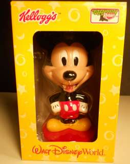 WALT DISNEY MICKEY MOUSE Bobble Head KELLOGGS 2002 NIB