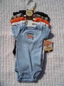 Carters 5 Pack NEWBORN Baby Boy Sports Onesie Bodysuits