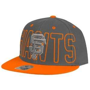 San Francisco Giants Graph Breakpoint Snapback Hat (Charcoal Gray
