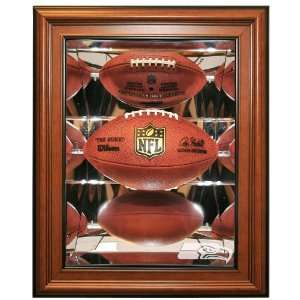 Seattle Seahawks Football Shadow Box Display, Brown: Sports & Outdoors