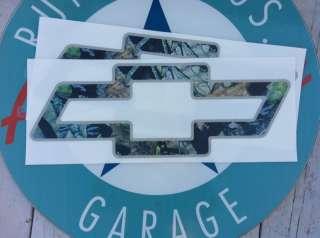 CHEVY CAMOUFLAGE BOWTIE   VINYL AUTO DECAL   MEDIUM