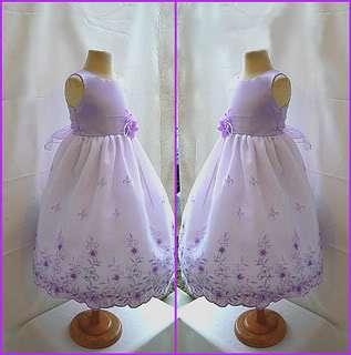 NEW WHITE CHAMPAGNE EASTER BRIDAL FLOWER GIRL DRESS
