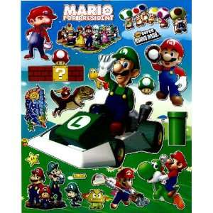 Super MARIO Luigi STICKER SHEET BL706 ~ Race Car Motorbike Cart Turtle