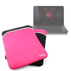 Neoprene 14 Laptop Case In Black & Pink For HP Envy 14 By DURAGADGET