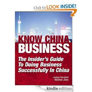 Know China Business The Insiders Guide to Doing Business