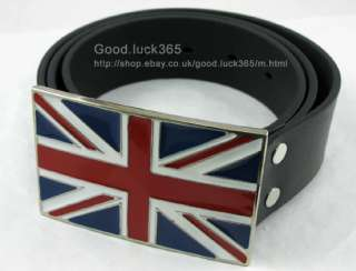 British Flag   Union Jack Mens Metal Buckle & Belt NEW