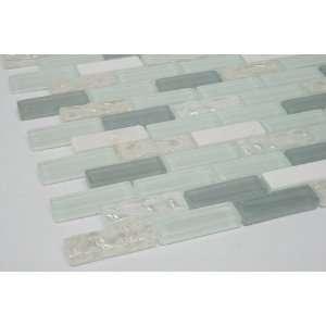 Tile; Color Dark Blue, Light Blue, White Glass Tile & White Marble