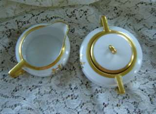 ANTIQUE O&EG ROYAL AUSTRIA Sugar and Creamer MINT♥