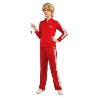 Women GLEE Sue Sylvester Track suit costume Small Med Large NIP red