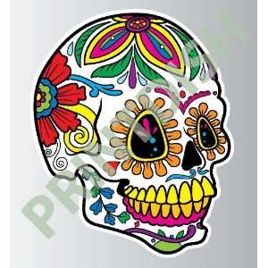 Sugar skull 5 1 sticker vinyl decal 5 x 4