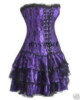 New Brocade Bustier Top Corset with mini skirt 2162