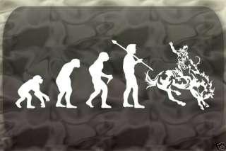 Cowboy Evolution Rodeo Horse Sticker Man Decal