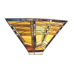 Kichler Lighting 69018 2 Light Steveston Art Glass Wall Sconce, Dore