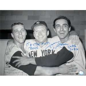 Joe Pepitone Autographed Picture   with 3xAS3xGG Inscription