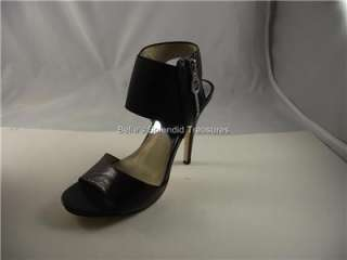NIB MICHAEL KORS odelia sandal shoe BLACK HIGH HEELS PLATFORM SLING 7