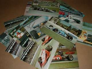 1970s 22 vintage Indy 500 Auto Racing Postcard handout A J Foyt