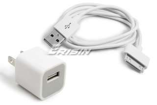 usa home charger usb data sync cable for iphone ipod
