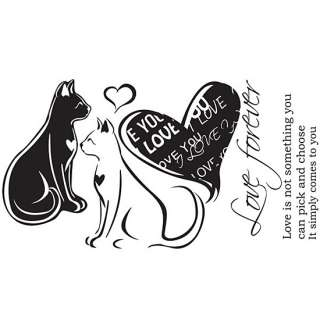 LOVE Forever CATS Adhesive Removable Wall Decor Accents GRAPHIC