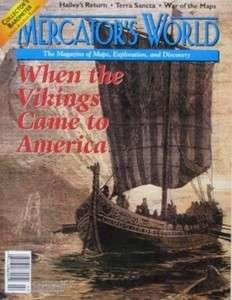 MERCATORS WORLD Map Magazine Vikings Edmund Halley Holy Land Samuel