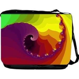 Rikki KnightTM Colorful Swirl Messenger Bag   Book Bag