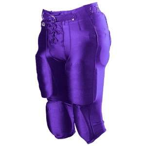 Alleson Youth Nylon/Spandex Football Pants PU   PURPLE YM