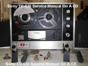 Sony TC 530 REELTO REEL SERVICE MANUAL