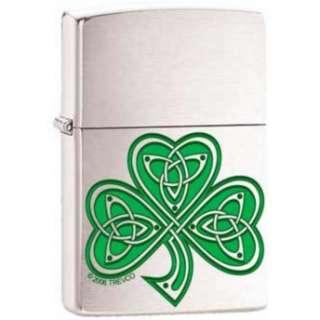 Shamrock Clover Knot Irish Celtic Chrome Zippo Lighter