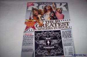 NEW CLASSIC ROCK MAGAZINE +CD MAY09 50 GREATEST SINGERS