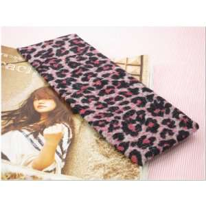Pink Leopard Animal Print Stretchy Hair Band for Women or Girl Fashion