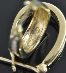 Star Diamond 14K Yellow Gold .24 CT Diamond Channel Polished Oval Hoop