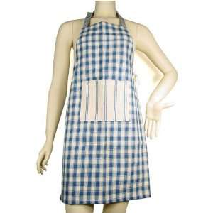 blue stripe accent CHILD size French country apron Home & Kitchen