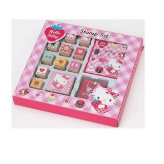 set strawberry cute sanrio hello kitty stamp set strawberry 1 notebook
