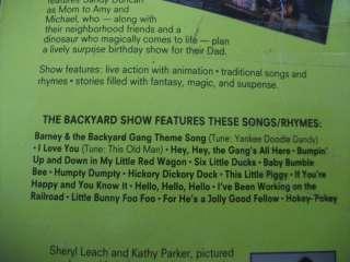 Vintage Barney The Dinosaur VHS The Backyard Show