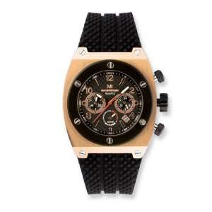 Mens Mountroyal Chrono Rose Gold plated Watch Jewelry