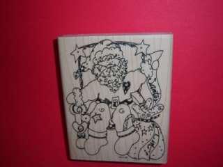 SANTAS LIST Claus Christmas CALIFORNIA RUBBER STAMP XL