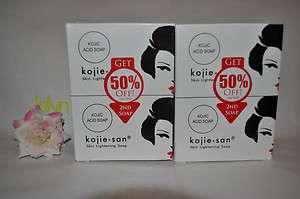 Kojie San Kojic Skin Whitening Soap135g 4pcs