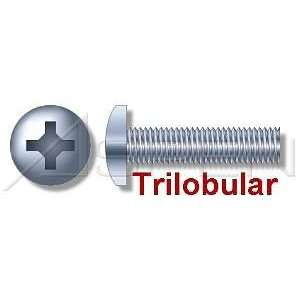 000pcs per box) Trilobular Thread Rolling Screws Pan Head Zinc #12