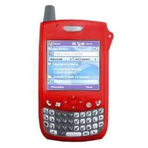 Red Quality Silicone Skin Cover Case Phone Protector for Palm Treo 700