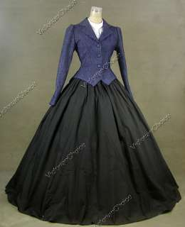 Civil War Victorian Cotton Blends Day Dress Ball Gown 166 XL
