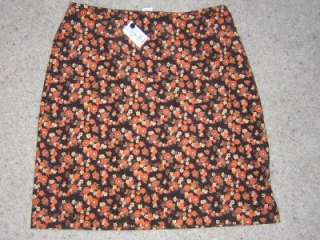 ANN TAYLOR LOFT Cotton Skirt Floral Womens Sz. 8 NWT