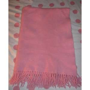 Amy Coe Pink Flannel Fringe Blanket Lovey Home & Kitchen