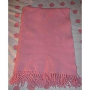 Amy Coe Pink Flannel Fringe Blanket Lovey