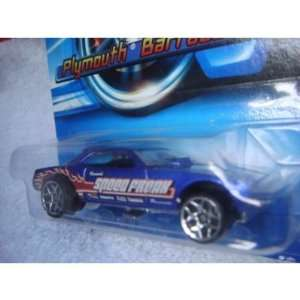 Hot Wheels Plymouth Barracuda Funny Car 2005 #183 5y Blue With Flamz 1