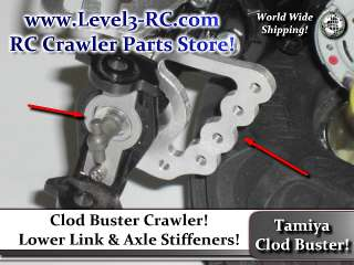 TAMIYA 4 LINK AXLE MOUNTS ** TAMIYA CLOD BUSTER ** RC ROCK CRAWLER