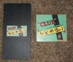1950 CLUE Board Game Parker Brothers Complete Set