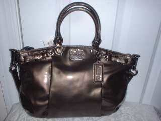 Authentic Coach Madison Patent Leather Sophia Satchel Handbag 18613