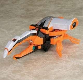 Samurai Sentai Shinkenger DX Beetle Kabuto Origami zord Megazord