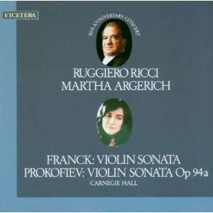 50th Anniversary Concert Live Ricci, Argerich Music