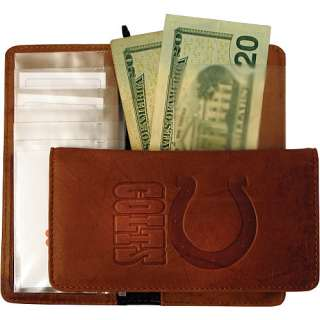 Indianapolis Colts Embossed Leather Checkbook Cover